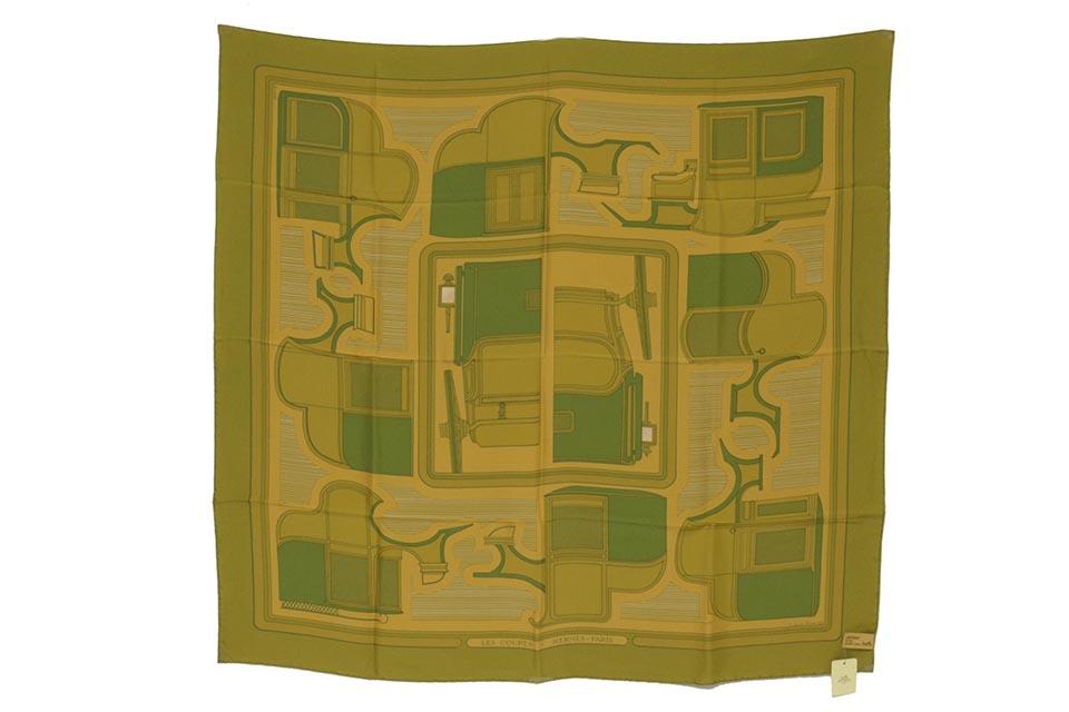スカーフ シルク モスグリーン 祇園限定 未使用