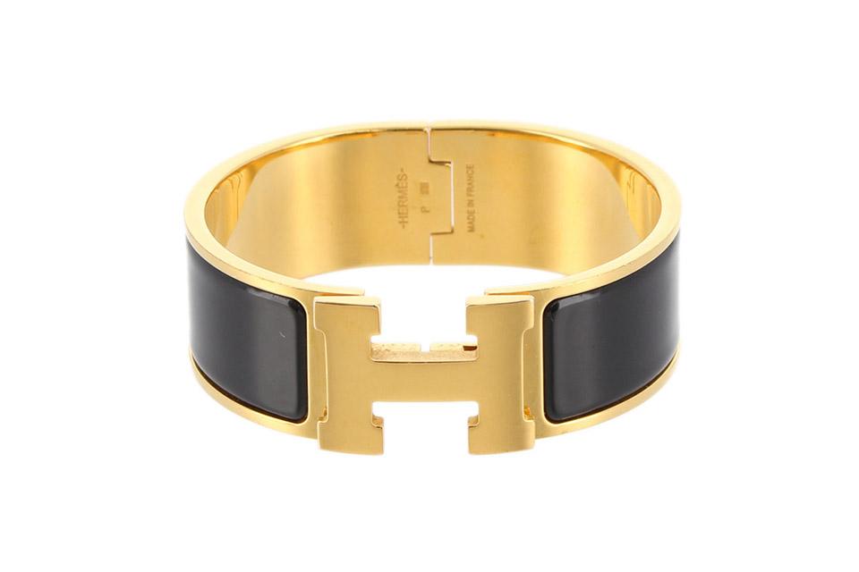 クリッククラックGM  Hバングル(ブレスレット) ブラック/ゴールド