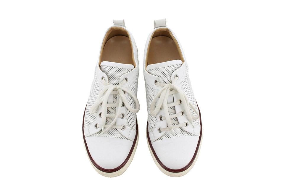 スニーカー メンズ レザー 白 ホワイト #40