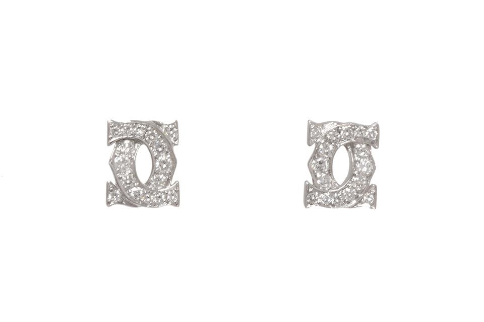 アントルラセ ピアス K18WG/ダイヤ