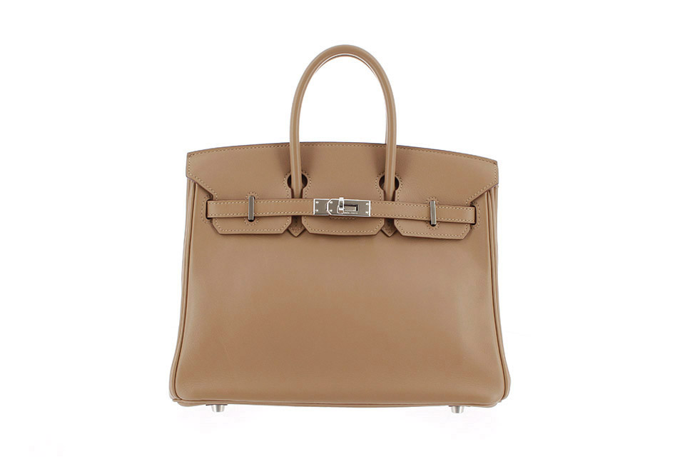 Birkin25 Veau Swift biscuit silver hardware Stamp:M