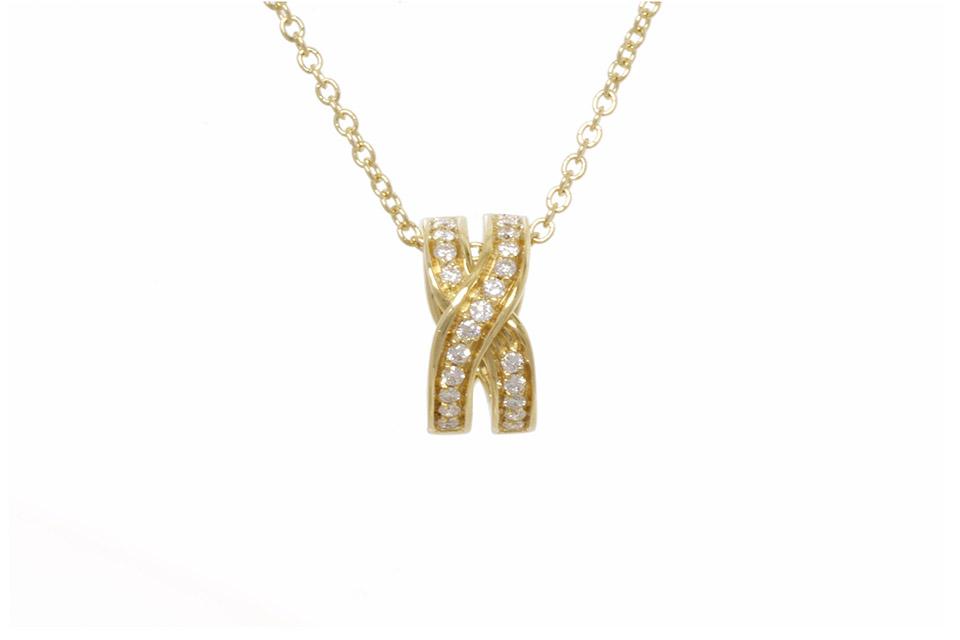 アブラッチョ ネックレス K18YG/ダイヤ
