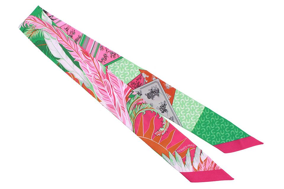 トゥイリー シルク 馬 ピンク/オレンジ/グリーン系 新品