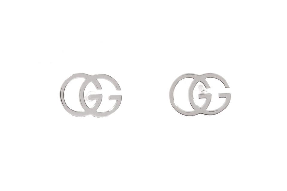 GGロゴ ピアス K18WG