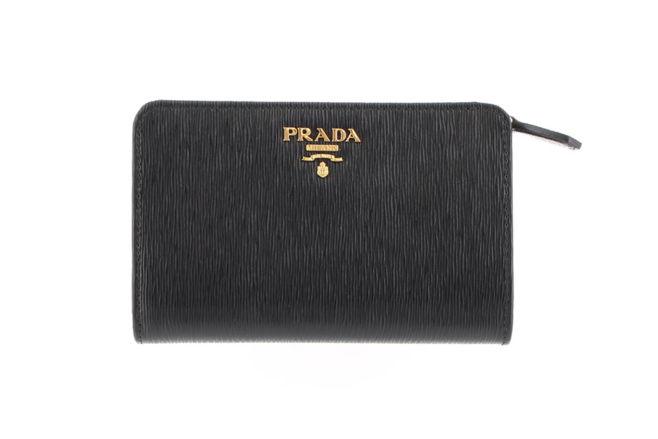 2つ折り財布 コンパクト財布 黒 ブラック ネロ 1ML225 新品
