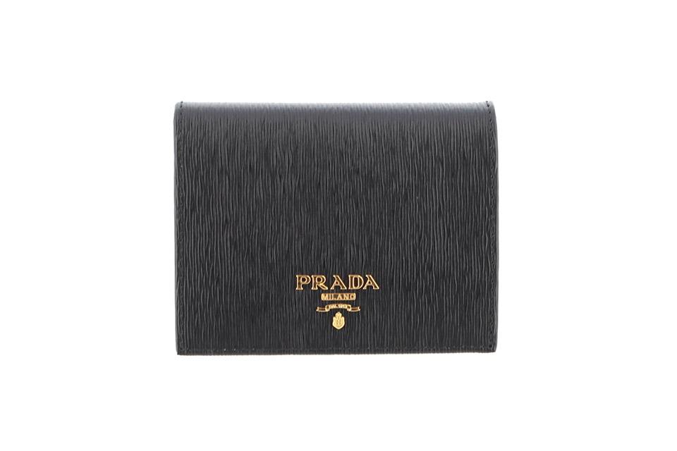 2つ折り財布 コンパクト財布 黒 ブラック ネロ 1MV204 新品