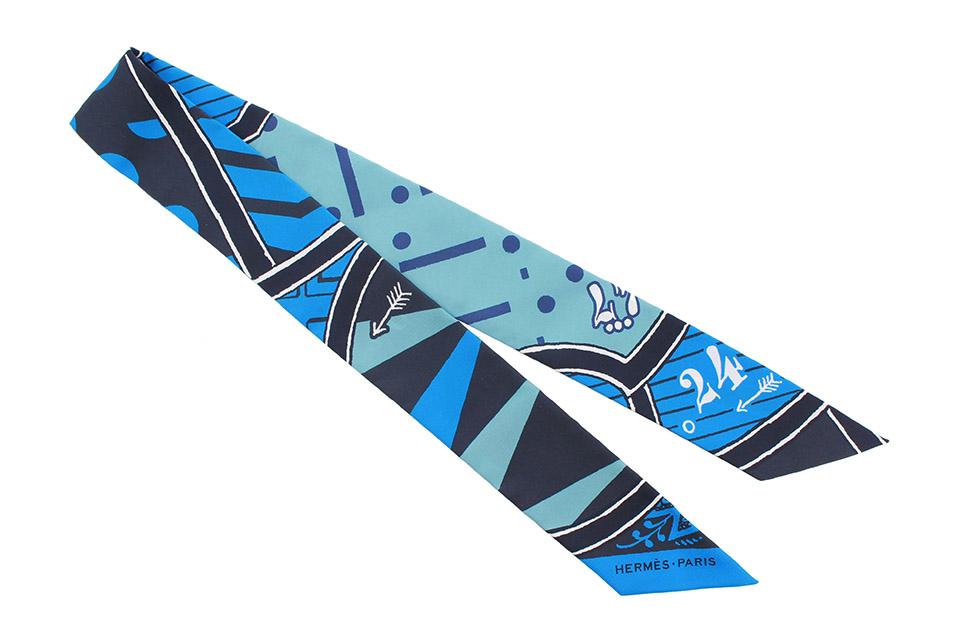トゥイリー シルクゲーム ブルー系 シルク 新品