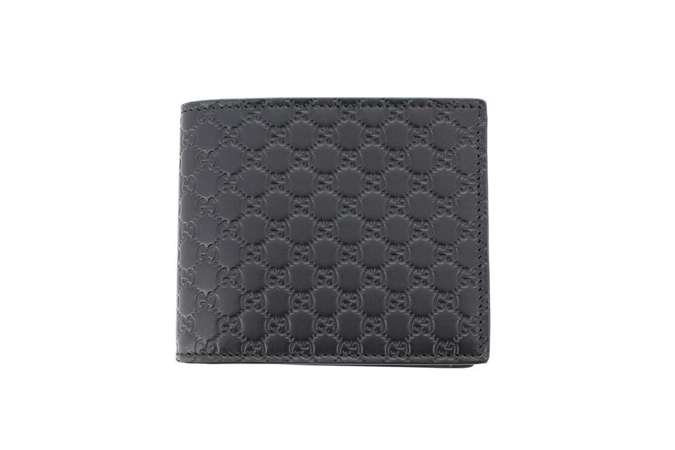 2つ折り財布 コンパクト財布 マイクログッチシマ 黒 ブラック 544472 アウトレット 未使用
