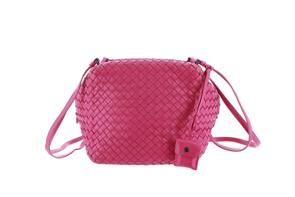 ショルダーバッグ レザー ピンク 255693