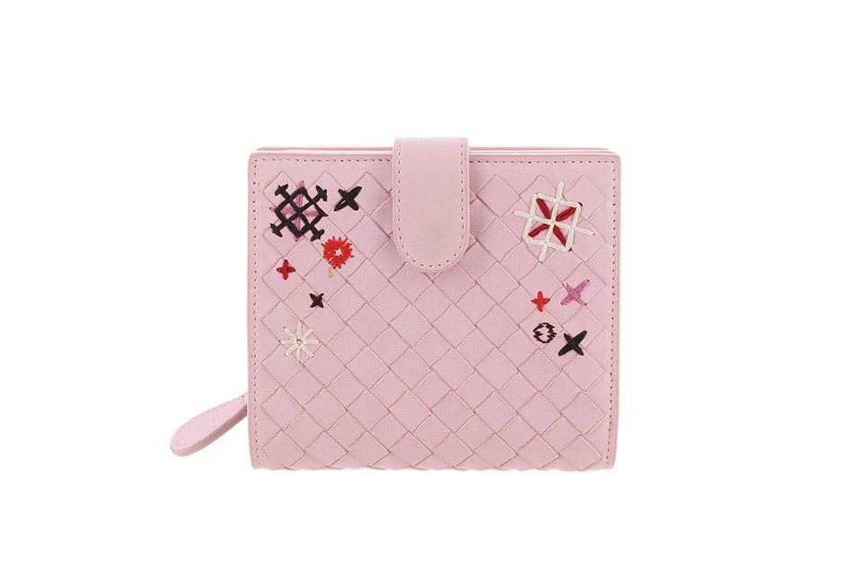イントレチャート Wホック財布 ピンク
