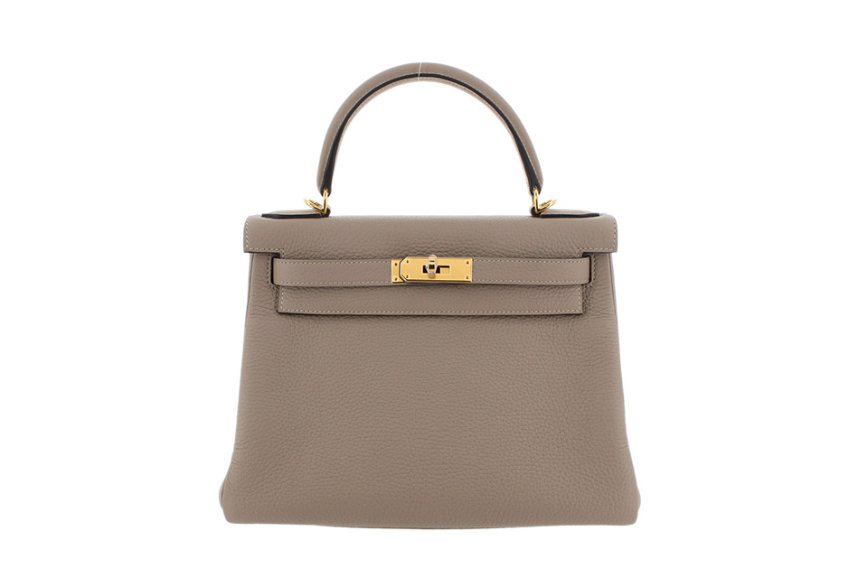 Kelly28 Togo Gris Tourterelle Gold hardware Stamp:D