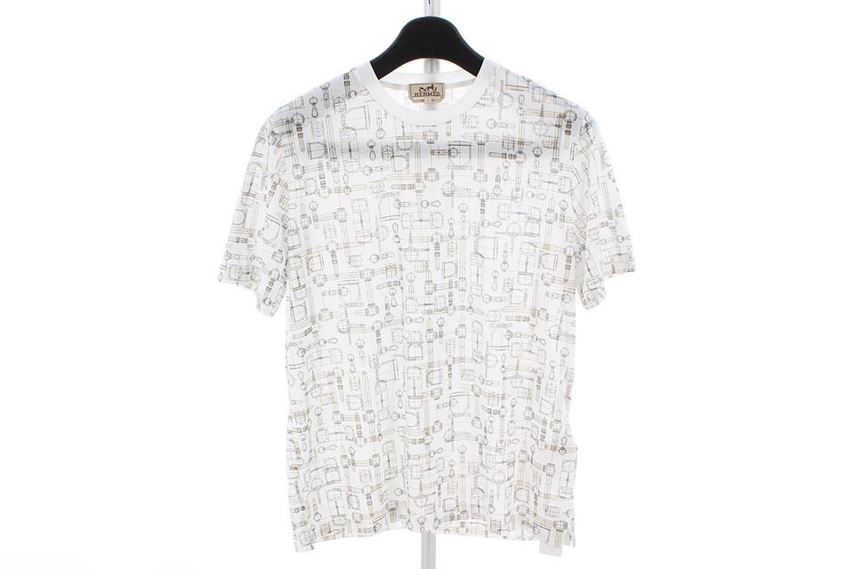 Tシャツ ホワイト/ベージュ メンズ Lサイズ コットン 新品
