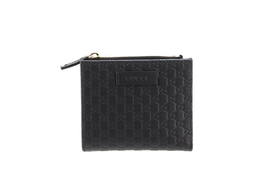 二つ折り財布 未使用 マイクログッチシマ ブラック アウトレット 510318