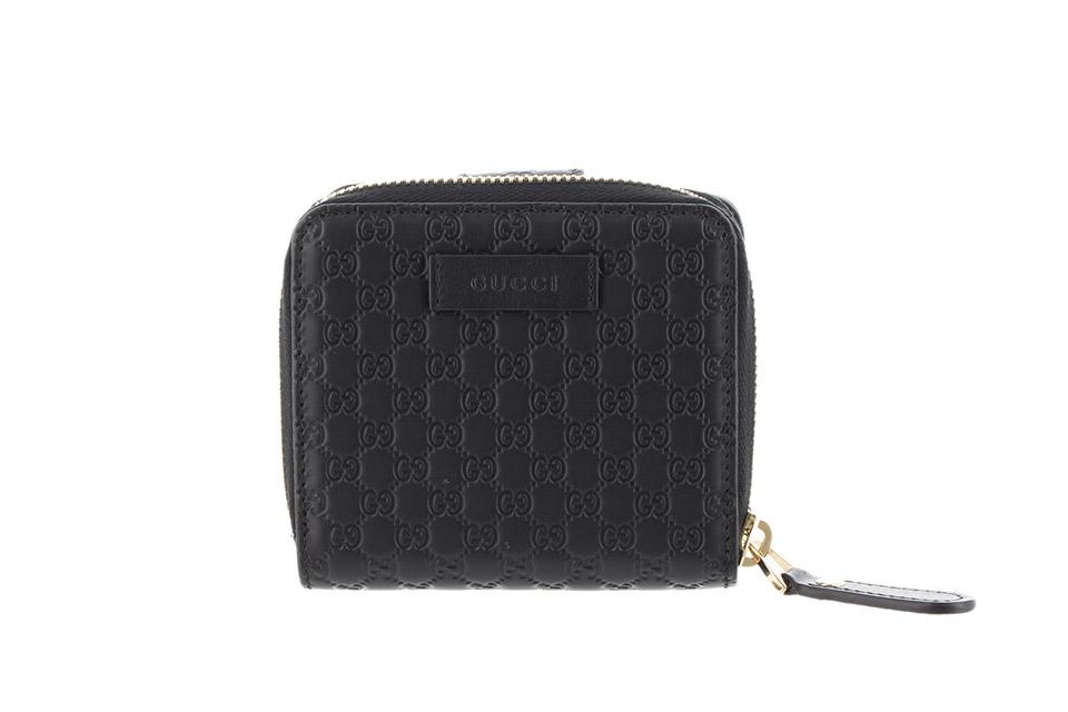 二つ折り財布 未使用 マイクログッチシマ ブラック アウトレット 449395