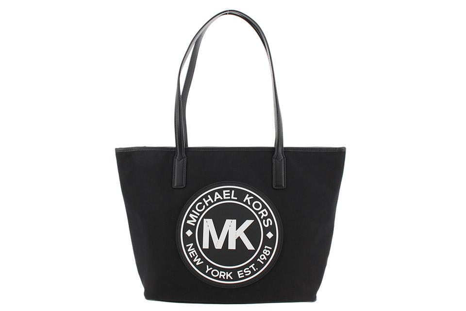 トートバッグ 黒/白 ロゴ MK 35SOSY9T3C アウトレット 未使用
