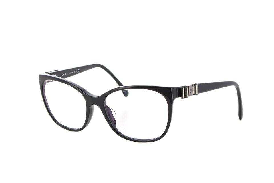 メガネ リボン 黒 ブラック 3284