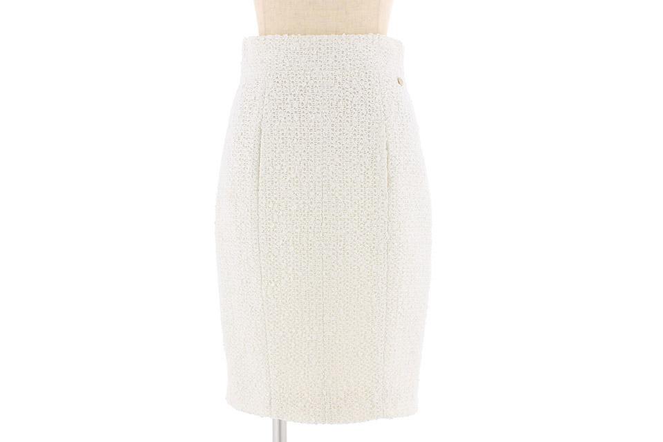 ツイード スカート 白 未使用