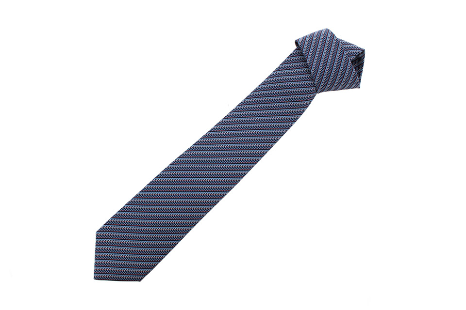 ネクタイ CRAVATE TWILL TIE シルク ブルー 646184T 新品