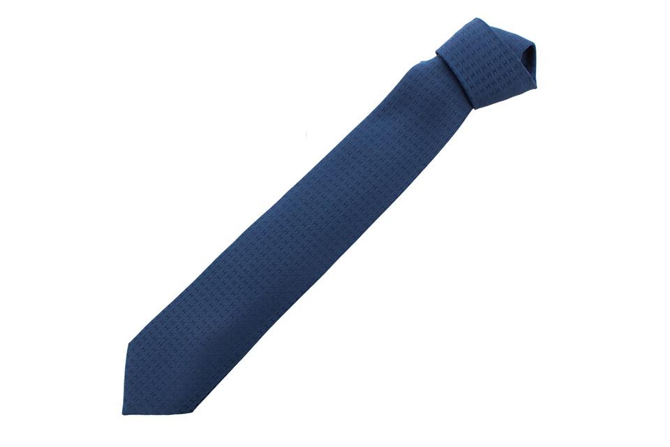 ネクタイ ブルー H織りタイ 8cm ファソネ H シルク 030189T 新品