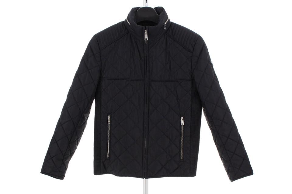 キルティングジャケット 黒 メンズ
