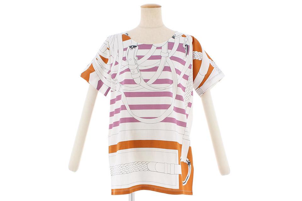 Tシャツ 白/紫 パープル/オレンジ ♯38 未使用