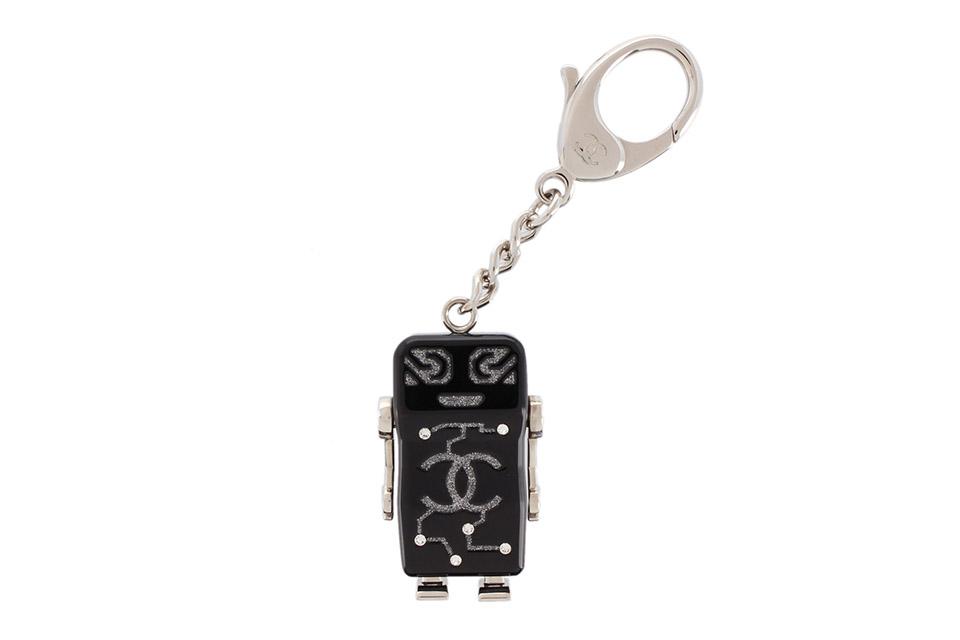 キーリング キーホルダー ロボット ココ/カメリア ブラック/シルバー ラインストーン A96622