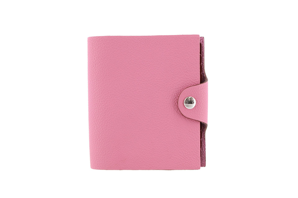 ユリス ミニ 手帳カバー トゴ ピンク シルバー金具 リフィル付き